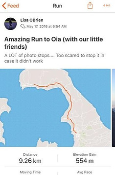 Strava Statistics Trail Run in Santorini Greece