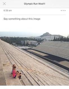 Strava photo running in Athens, Greece