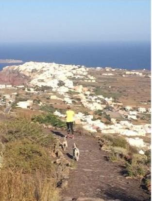 Trail Running Santorini Greece