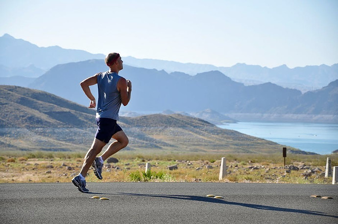 Runner with tight calf muscle which can contribute to plantar fasciitis