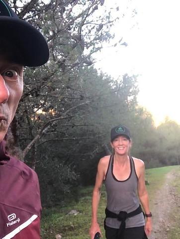 selfie on the run